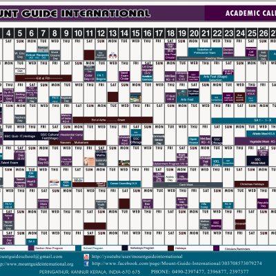 Academic Calendar 2016-17