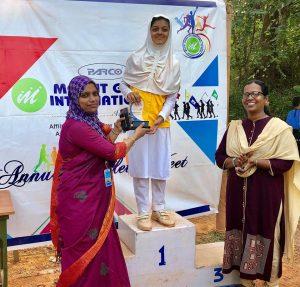 Haya Fathima Shaukath, Individual Champion (Junior Girls), Annual Athletic Meet 2018