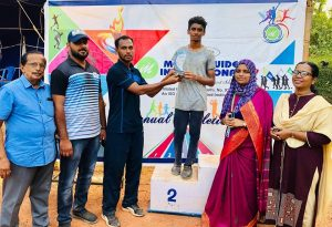 Muhammed Fabil Firoz Grade X, Individual Champion (Senior Boys), Annual Athletic Meet 2018