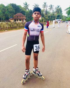 Sinan Ali C.K, GradeVIII, Silver medalist in Road one lap race.