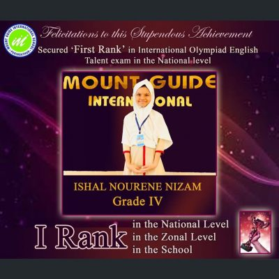 Stupendous Achievement in International Olympiad English Talent Exam in the National Level
