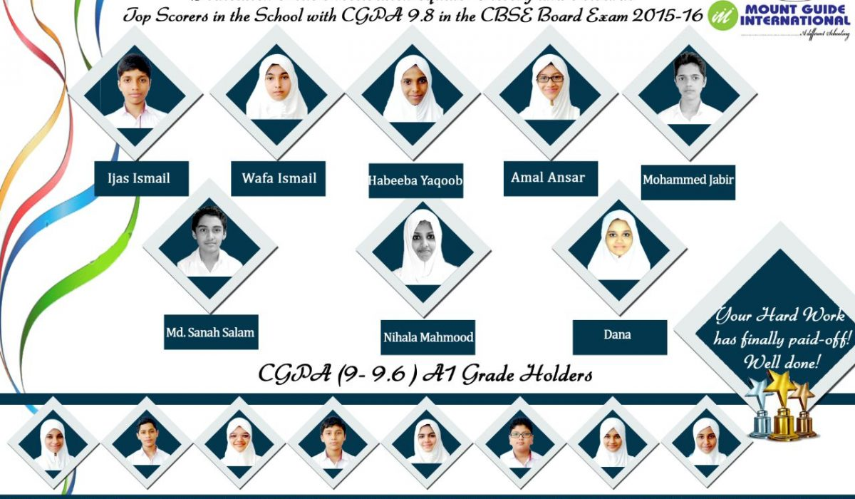 MGI achieves glorious results in CBSE Xth standard public examinations 2016 with 100% success