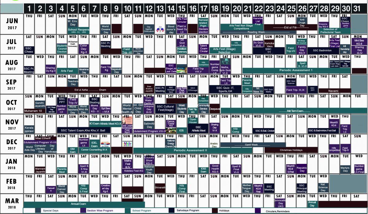 Academic Calendar 2017-18