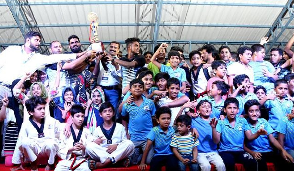 Host school crowned with the Overall Trophy of 5th All Kerala CBSE Schools Taekwondo Championship 2017 Mount Guide shining in the HAT TRICK VICTORY