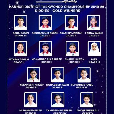 Kannur District Taekwondo Championship Winners 2019-20