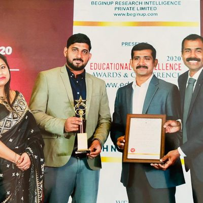 """'Best School of the Year 2020 Award' under """"Outstanding Academics & Innovative Teaching Approch""""."""