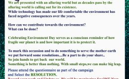 A Glimpse of the Environment Day Awareness…